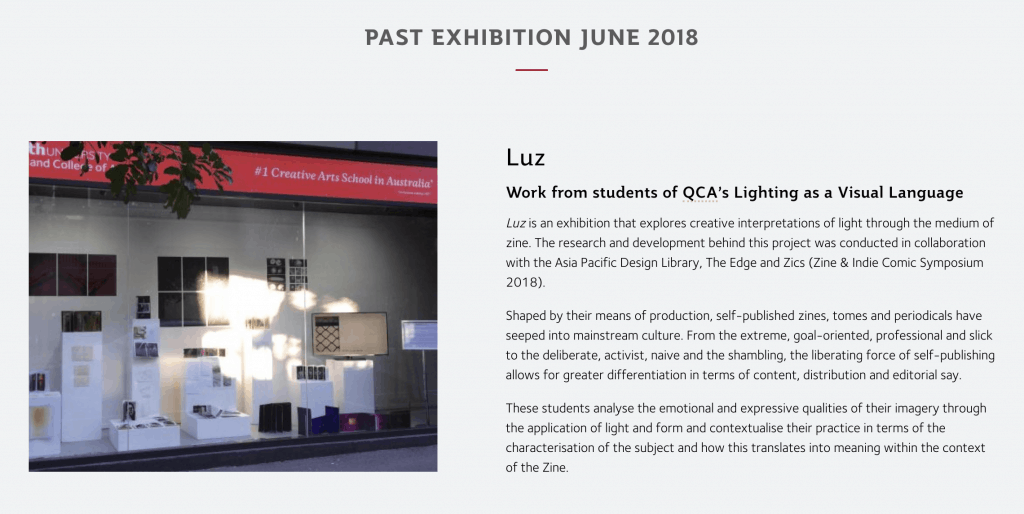 Luz exhibition