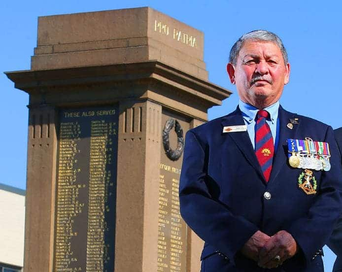 Bill Roberts OAM, JP at Hornsby Cenotaph