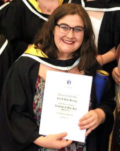 Sarah at her graduation