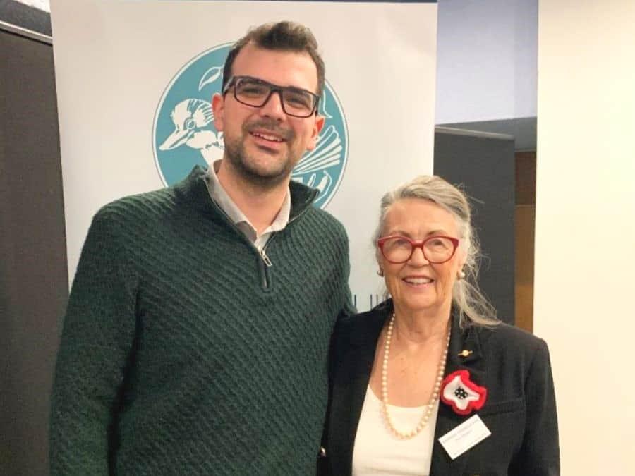 John with Rhondda Vanzella OAM - President  WWG NSW